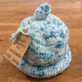 Newborn Gumdrop Beanie - Aqua, speckled