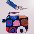 Licorice print makeup coin purse