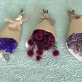 3 Mini dried bouquets - Dried flowers - Mini Boho - 12cm - bonbonerie