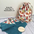 """HONEYCOMB"" KINDY KIT - Drawstring Bag & Mini Hand Towel set of 3"