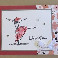 Celebrate - Graduation / Birthday Handmade Card - FREE POST