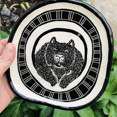 Large wombat  plate