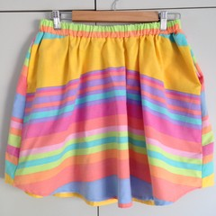 "Freya Skirt in ""Big Rainbro"" - Size S"
