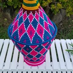 Moroccan Bread Basket Handwoven Berber No. 34