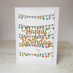 Fairy Lights Birthday Card, Happy Birthday