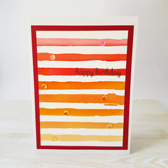 Birthday Card, Ombre Coloured Card