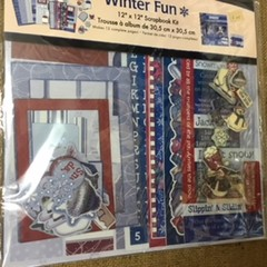 "Winter Fun - 12"" x 12"" Scrapbook Kit"