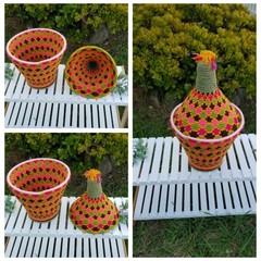 Moroccan Bread Basket Handwoven Berber No. 37