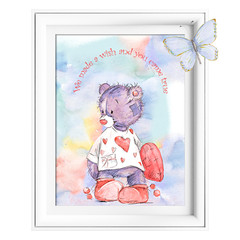 We Made a Wish Bear Printables