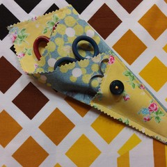 Handy Scissor Holder- Wattle/floral print