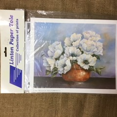 Paper Tole Prints  - Vase of White Flowers