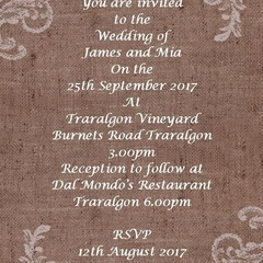 RUSTIC LACE WEDDING INVITATIONS SAMPLE