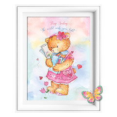 Keep Smiling Bear Printables
