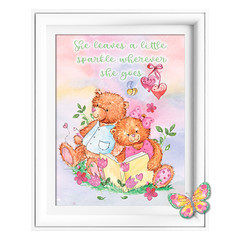 Leaves a Sparkle Bear Printables
