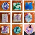 Unique hand made resin pendants