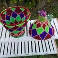 Moroccan Bread Basket Handwoven Berber No. 32