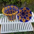 Moroccan Bread Basket Handwoven Berber No. 30