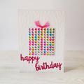 Birthday Card, Colourful Kids Card, Gift box greeting card