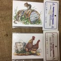 Paper Tole Prints - Rooster, Chicken and Chicks or Squirrels and Barrel