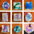 Unique hand made resin pendants