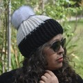 Beanie With Faux Fur Pom-Pom