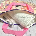 "LARGE ZIPPER WET BAG ""ALICE in WONDERLAND"""