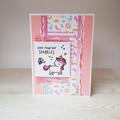 Unicorn Birthday Card, Hope Your Day Sparkles, Girls Birthday Card