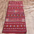 Flatweave Kilim Flat Woven Embroidered Moroccan Area Rug 94cm X 287cm