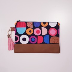 Licorice print clutch bag for women