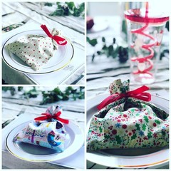 Reusable Christmas Party Bag, Fabric Bon Bons
