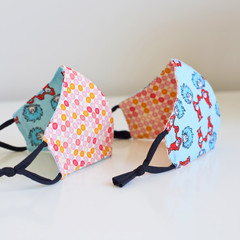 Kid Face Mask Polka Dots Fabric Face Cover
