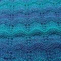 Green Blue texture loop Scarf