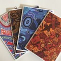 Australian Aboriginal Handmade Card pack - FREE POST