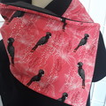 Black Cockatoos on Red