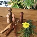 Toys of Wood -  River family of four