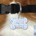 Mermaid Glitter Double Sided Pet ID Tag, Under the Sea, Dog tag, Cat tag