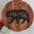 Personalised Etched Timber Acacia Boards - Mama Bear