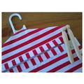 Fabric Peg Bag - Red & White Stripes