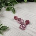 Pebble musk pink Drop Resin - Stud Dangle earrings