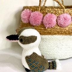 Kookaburra softie, FREE DELIVERY, Australian animal, baby boy toy, girl toy