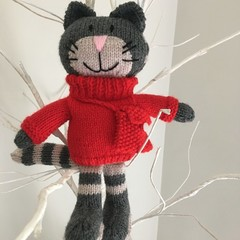 Darcy - Hand Knitted Cat Toy