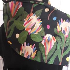 Rainbow Proteas on black