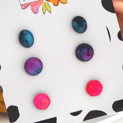 Hand-Painted Petite Stud Trio Pack