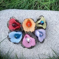 Fairy Petticoat Flower Earrings - choose your rainbow colour