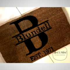 Personalised custom made door mat