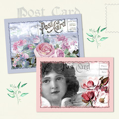Vintage Postcards Collage Sheet Printables_1