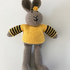 Willow - Hand Knitted Bunny Rabbit Toy