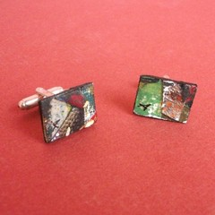 Sam - Collage Cufflink