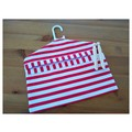 Fabric Peg Bag - Red & White Stripes