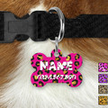 Small Round Leopard Double Sided Pet ID Tag, Dog tag, Cat tag
